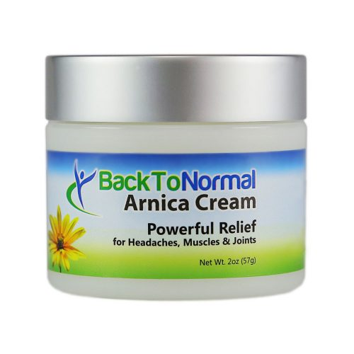 New and Improved! Extra Strength! Back To Normal Arnica Cream™ 2 oz jar